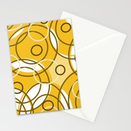 Circles nuetral Stationery Cards