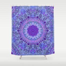 Attractive Wisteria Mandala Shower Curtain