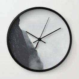 Landscape Photography Misty Grey Sea Cliffs Wall Clock