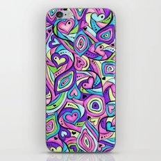 Lilac Hearts iPhone Skin