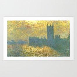 Claude Monet's Parlament in London Art Print