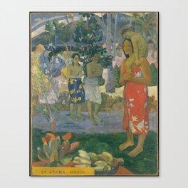 Paul Gauguin - Ia Orana Maria (Hail Mary) (1891) Canvas Print