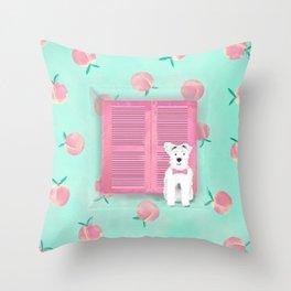 Schnauzer the Bohémien Throw Pillow