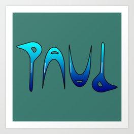 Paul (Ambigram) Namendreher Art Print