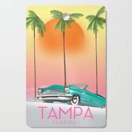 Tampa Florida Travel poster Cutting Board