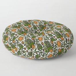 Sunflower City Floor Pillow