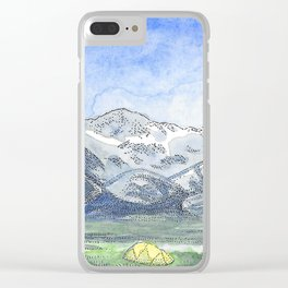 Valley Camping Clear iPhone Case