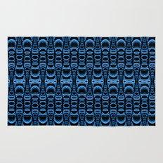 Dividers 07 in Blue over Black Rug