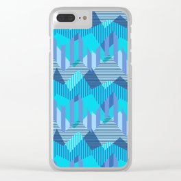 ZigZag All Day - Blue Clear iPhone Case