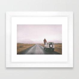 Road trip to nowhere Framed Art Print