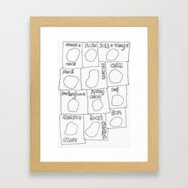 Crisps Framed Art Print