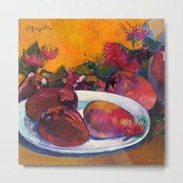 "Paul Gauguin ""Nature Morte Aux Mangos"" Metal Print"