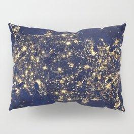 Gold map Pillow Sham