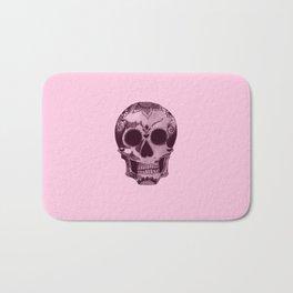 candyfloss skull Bath Mat