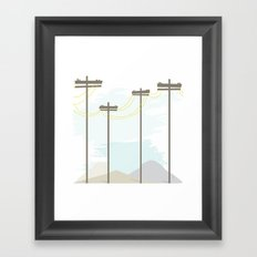 Power in the mountains Framed Art Print