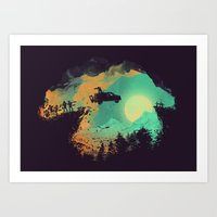 van Art Prints featuring Leap of Faith by Picomodi