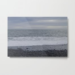 Iceland Calm Sea Black Beach - Vik Metal Print