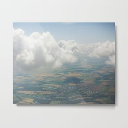Czech Aerial Landscape Metal Print