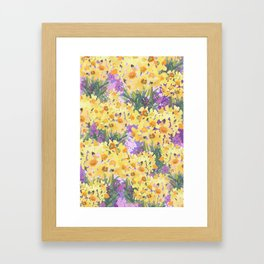 Yellow Daffodil Garden Framed Art Print