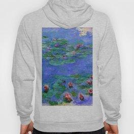 Claude Monet Red Water Lilies Hoody