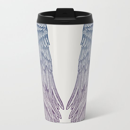 Angel Wings Metal Travel Mug