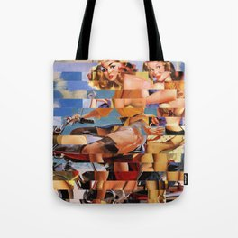 Glitch Pin-Up Redux: Zelda & Zoe Tote Bag