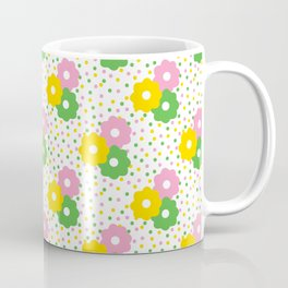 60s Ditsy Daisies + Dots Coffee Mug