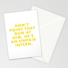 The Life Aquatic - Don't point that gun at him, he's an unpaid intern. Stationery Cards