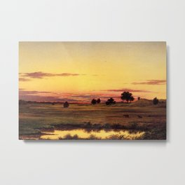 Scituate Valley before the Reservoir by Martin Charles Heade Metal Print