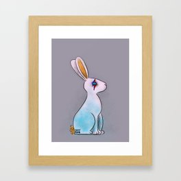 Bunny in Space Framed Art Print