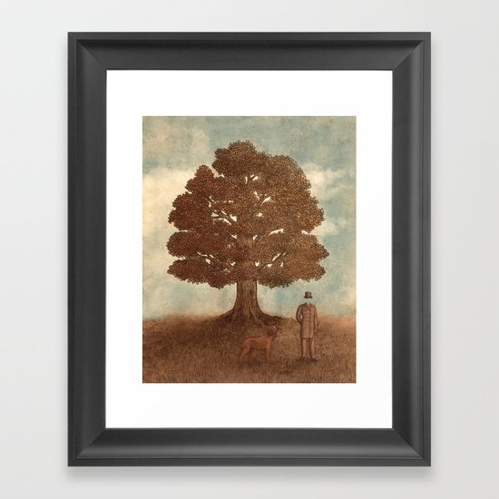 Invisible Man Goes for a Walk  Framed Art Print