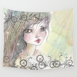 Bikes and crown Wall Tapestry