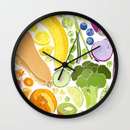 Eat Well Wall Clock