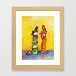 Flower Ladies Framed Art Print