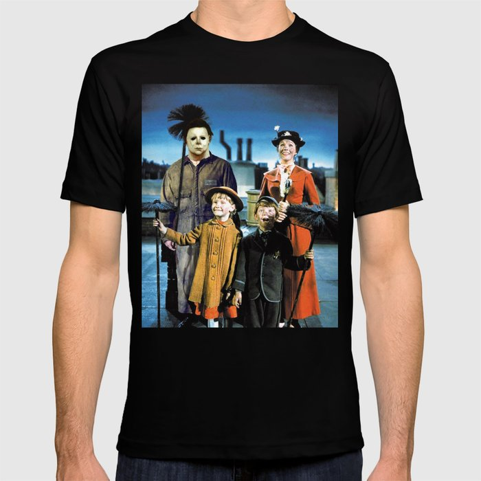 Michael Myers in Mary Poppins T-shirt