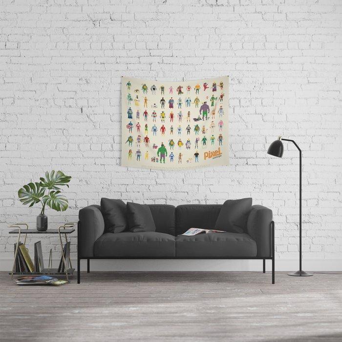 Pixel Nostalgia Wall Tapestry