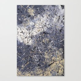 Orion - Jackson Pollock style abstract drip painting by Rasko Canvas Print