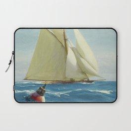 Vintage Sailing Sloop Yacht Painting (1910) Laptop Sleeve