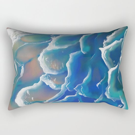 Water Coloring Time for Sea Rectangular Pillow