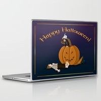 hobbit Laptop & iPad Skins featuring Hobbit Halloween by wolfanita
