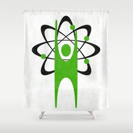 Science Happy Human Shower Curtain