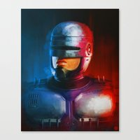 cyclops Canvas Prints featuring CYCLOPS by John Aslarona