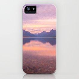 Lake Mcdonald Sunset iPhone Case