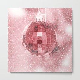 Pink Christmas Ball Metal Print