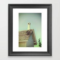 Summer cottage gable roof Framed Art Print