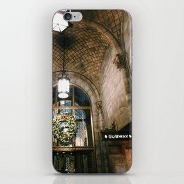 nyc grand central christmas arches photograph iPhone Skin