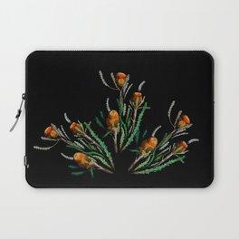 Orange Wildflowers in the Dark Laptop Sleeve