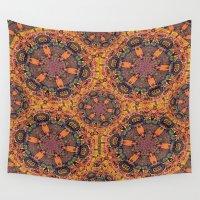 batik Wall Tapestries featuring Mandala Batik by Shari Gift
