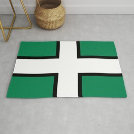 flag of Devon or devonshire Rug