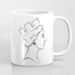 Portrait of Queen Elizabeth II Coffee Mug